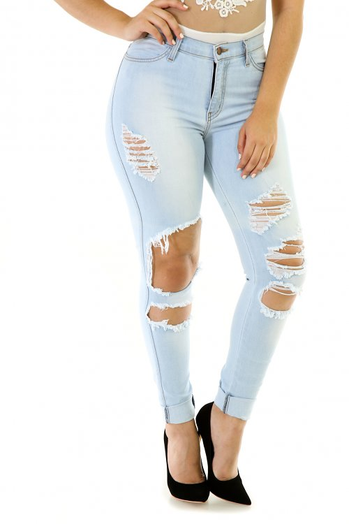 All Cut Out High Waisted Jeans