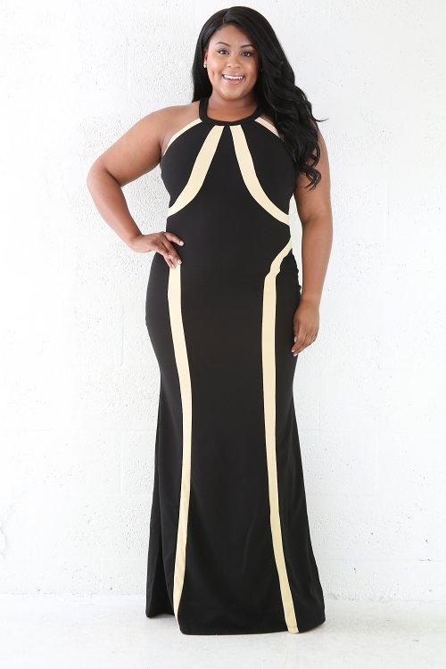 Beige Diamond Maxi Dress