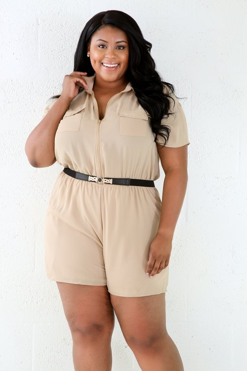 Stone See-trough Loose Romper