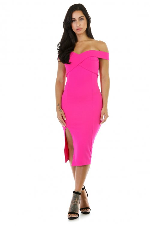 Sleevless Bodycon Midi Dress