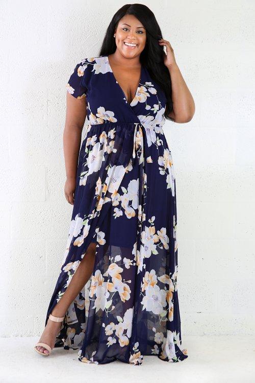 Flowers Maxi Flare Dress