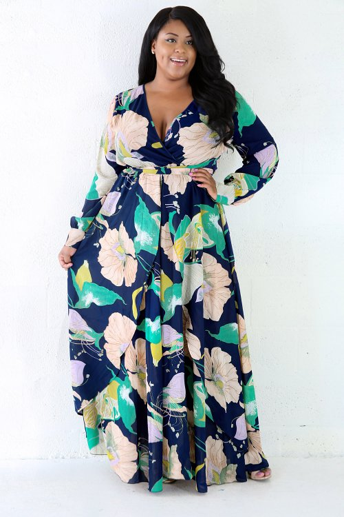 Throw Back Floral Maxi Dress