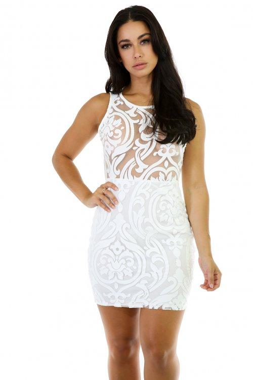 Swirl Shape Mini Dress