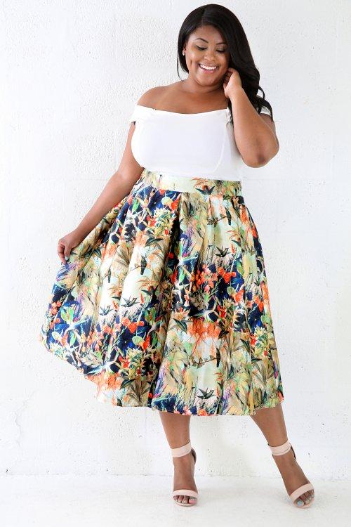 Tree Top Silk Skirt