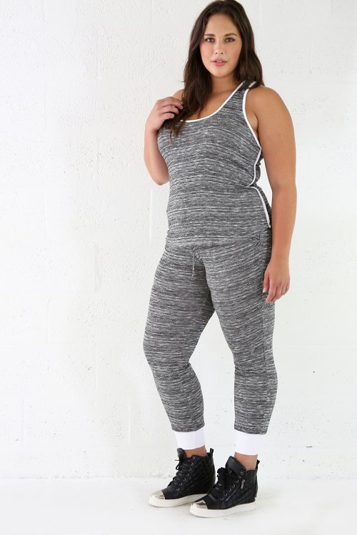 Loose Fit Marbled Joggers Set