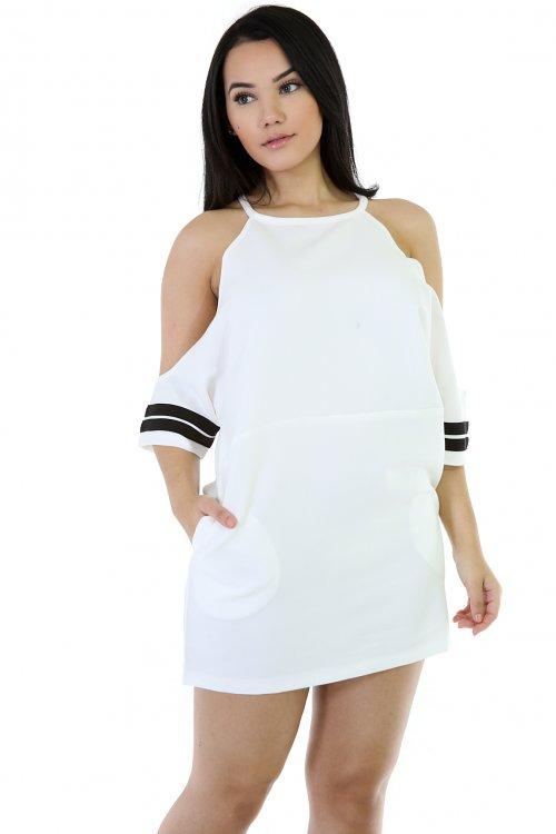 Loose Boy Mini Short Sleeve Dress