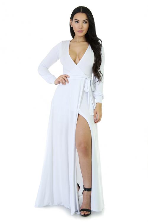 Silk Bae Maxi Long Sleeve Dress