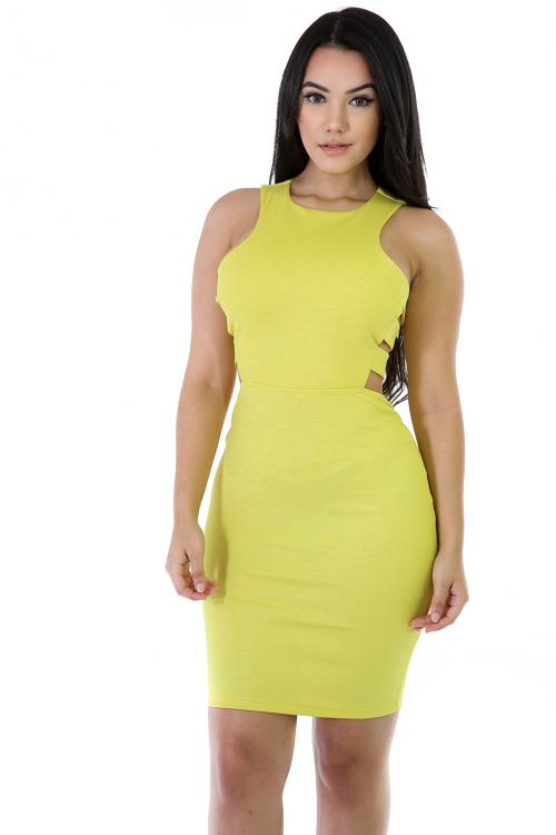 Sleeveless Stretchy Midi Dress