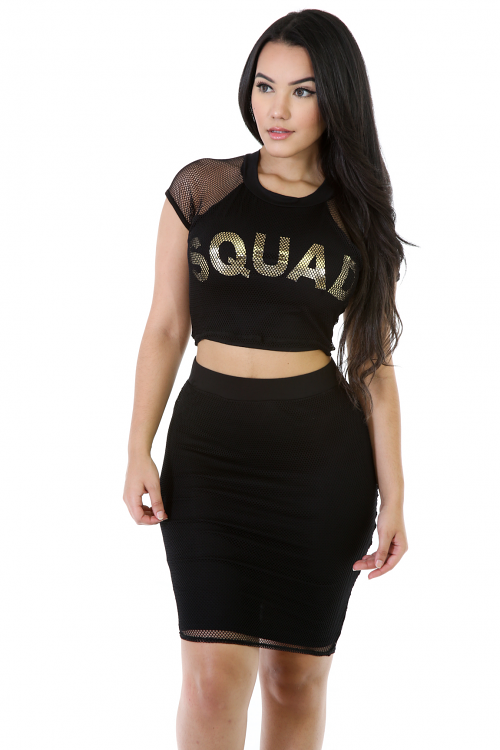 Squad Girl Two-Piece Skirt Set