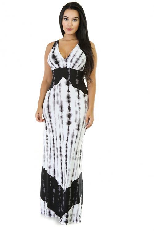 Tie-Dye Long Maxi Miami Dress