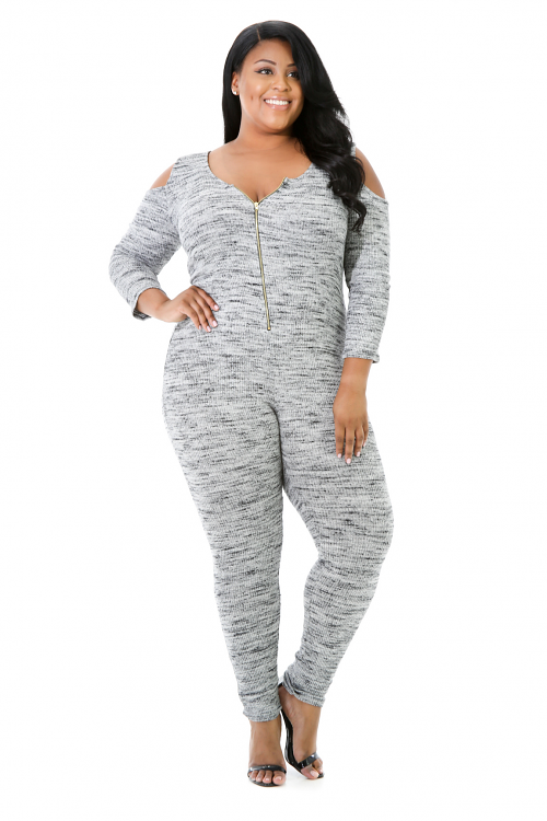 Stretchy Zipped Jumpsuit