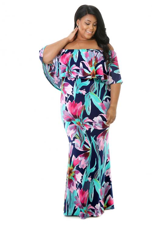 Flare Top Maxi Dress