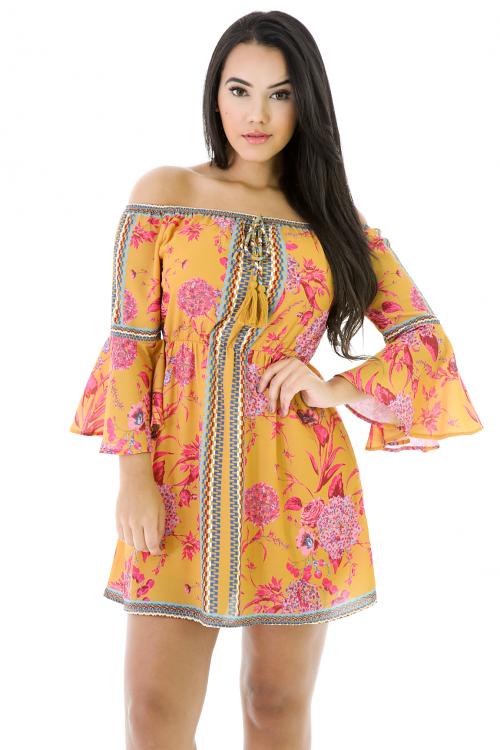 Tassel Off Shoulder Dress