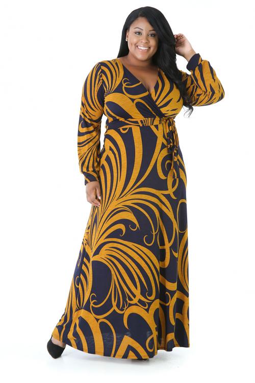 Curve Lines Maxi Dress