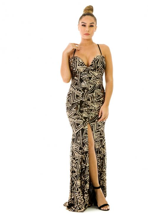 Bedazzled Sequin Dress