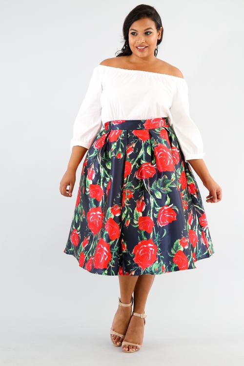 Rose Silk Skirt