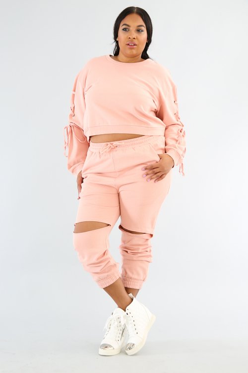 French Terry Jogger Pant Set