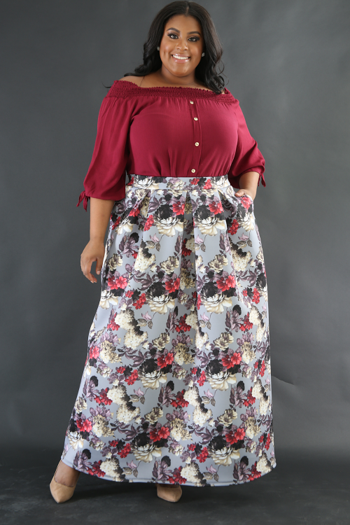 Floral Fall Thick Skirt