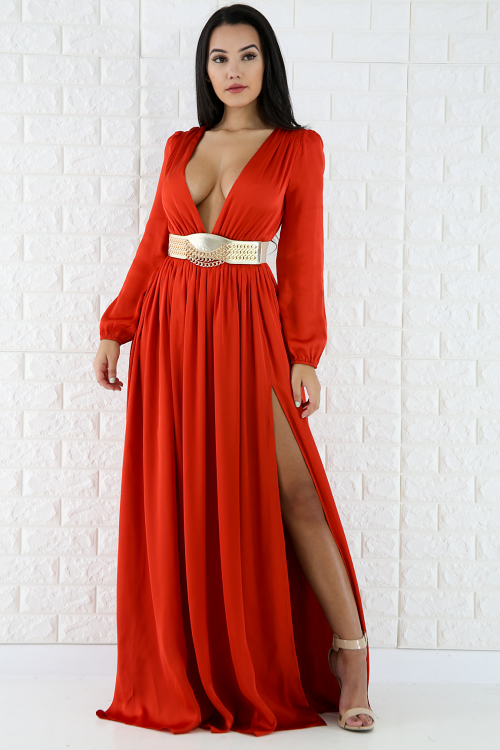 Chiffon Silk Diva Maxi Dress