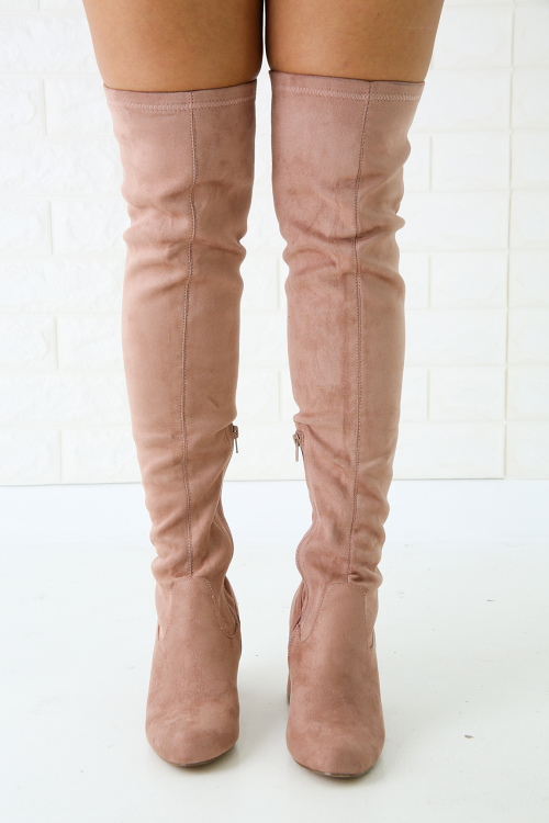 Wild Diva Lounge Chunky Heeled Over-The-Knee Boots