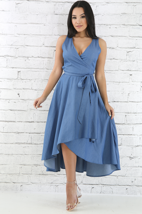 Perfect Occasion Denim Dress