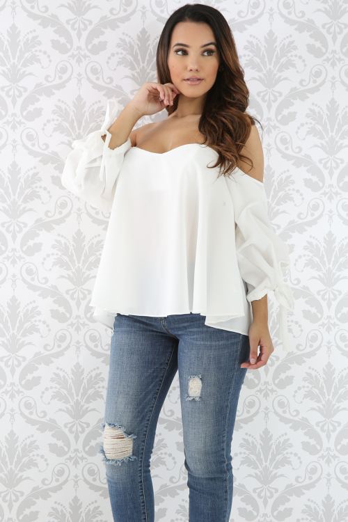 Flare Puffy Sleeve Top