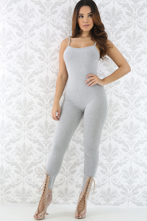 Fit Thin Straps Stretchy Jumpsuit