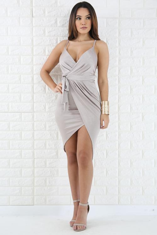 Silk Drape Dress