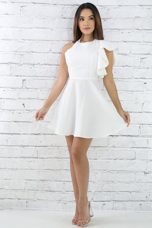 Flare Shoulder B0odycon Dress