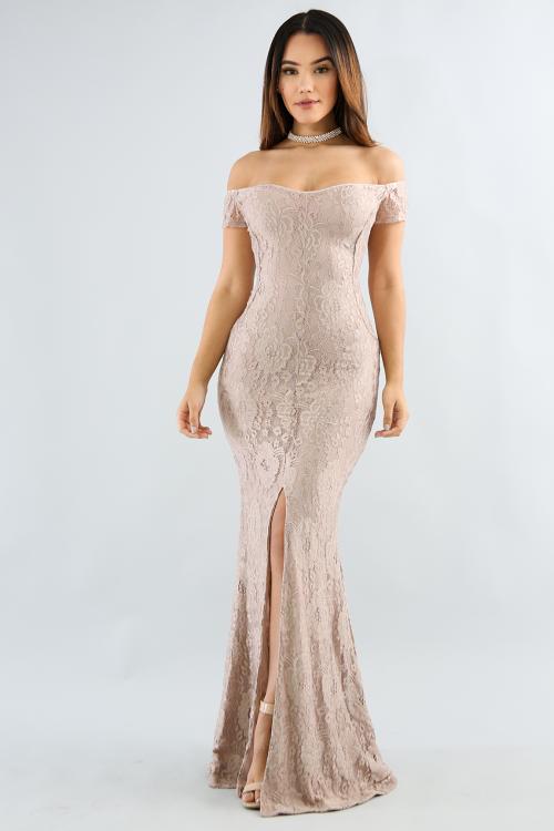 Divine Lace Maxi Dress