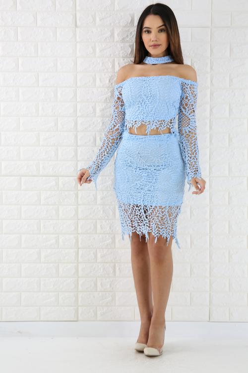 Crochet Skirt Set