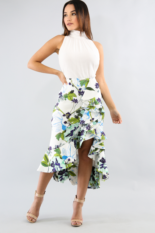Swirl Floral Skirt