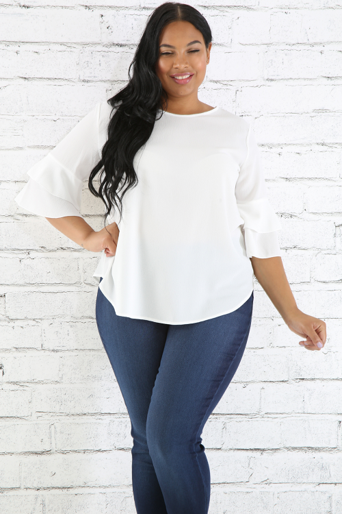 Flare QUarter Sleeves Top