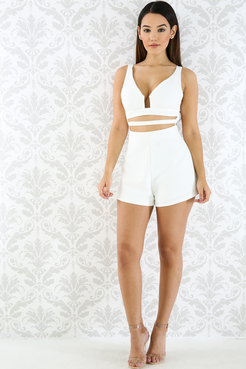 Cut Out Baby Romper