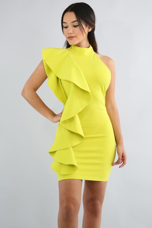 Swirly Open Back Body-Con Dress