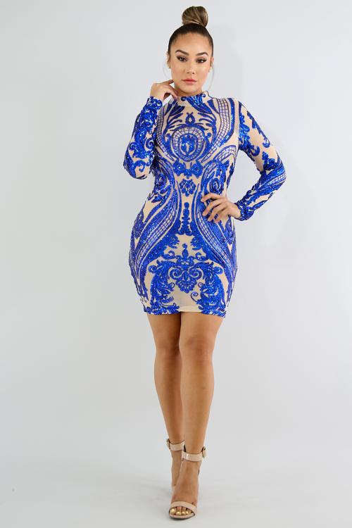 Sequin Body-Con Dress