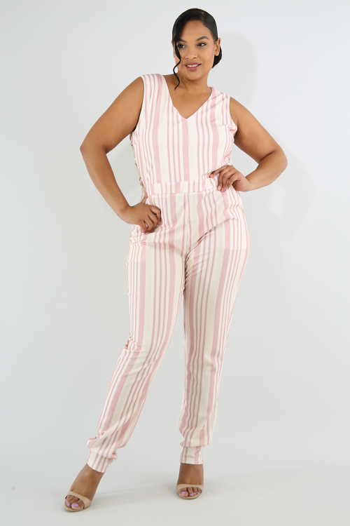 Striped Ringlet Jumpsuit