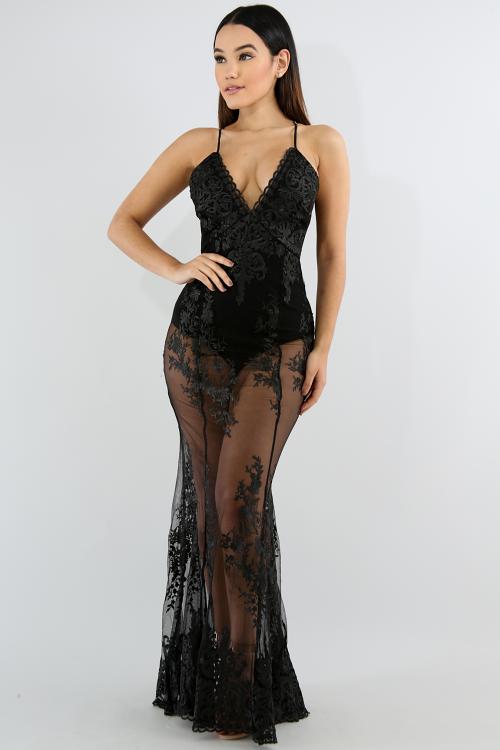Maxi Diva Lace Mermaid Dress
