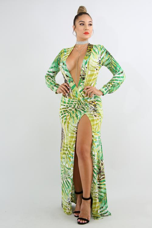 Wild Cheetah Maxi Dress