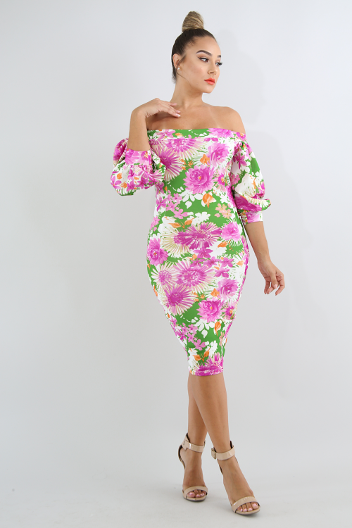 Candy Tuft Body-Con Dress