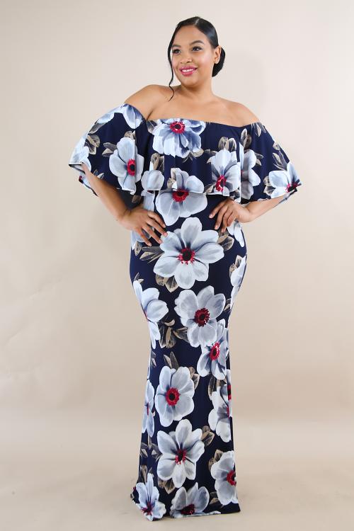 Vinca Floral Maxi Dress