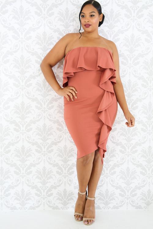 Flamenco Swirled Dress