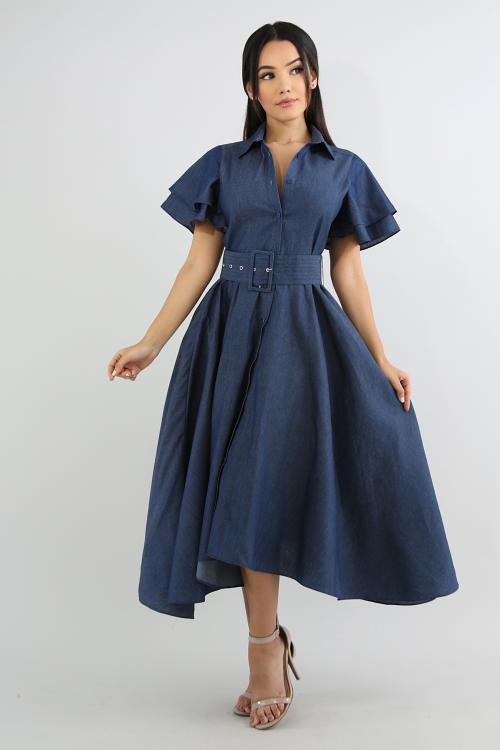Denim Flare Dress