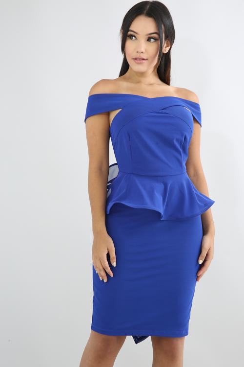 Crisscross Swirled Body-Con Dress
