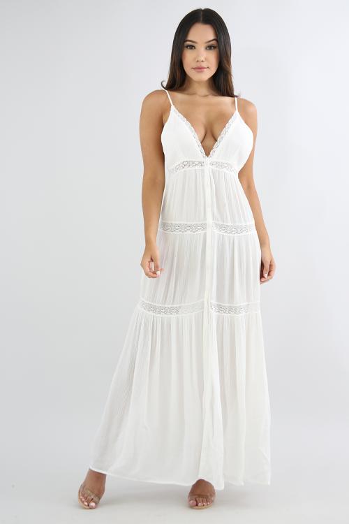 Sunset Lace Maxi Dress