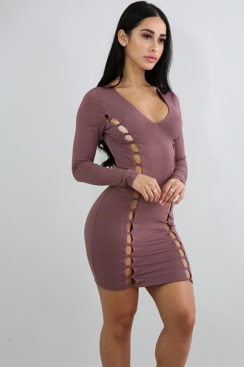 Ladder Up Body-Con Dress