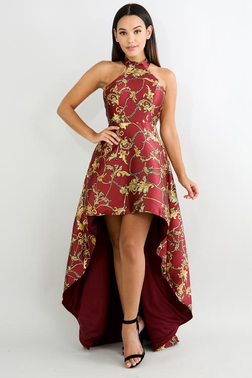 Golden Swirl Princess Dress