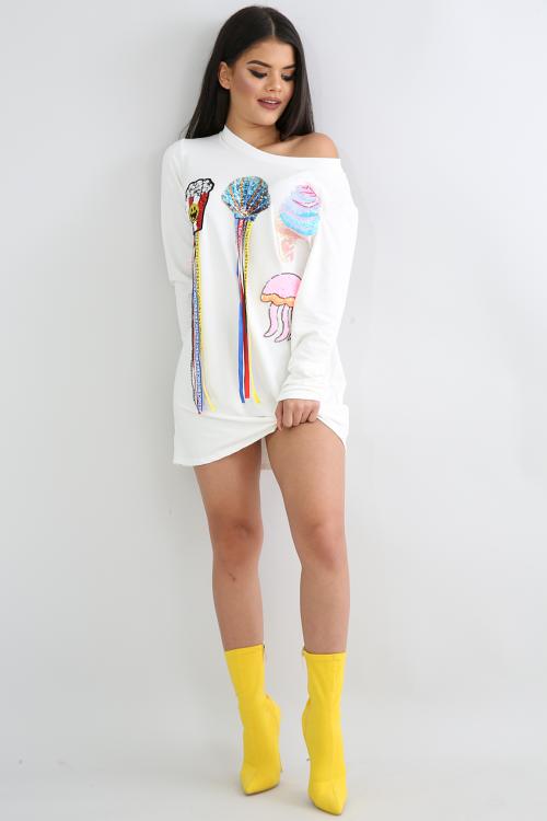 Emoji Jersey Knit Dress