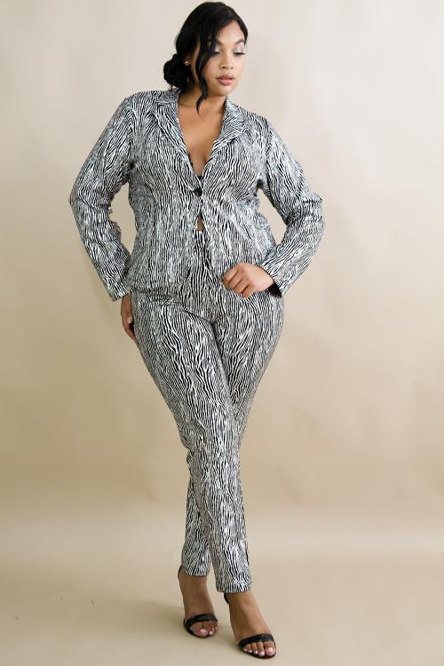 Z-Sparkle Blazer Suit Set
