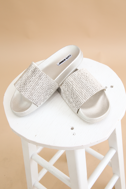 Rhinestone Open Toe Sandal